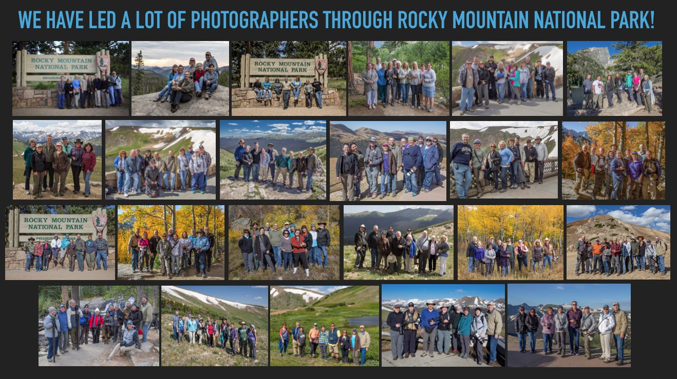 Colorado, Rocky Mountain National Park, Fun Destination Photography Workshop, Many photographers